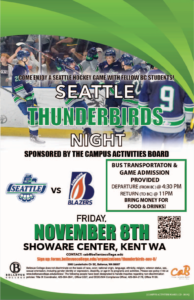 Seattle Thunderbirds vs Kamlooks Blazers on November 8