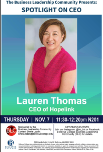 Spotlight on CEO Lauren Thomas, November 7
