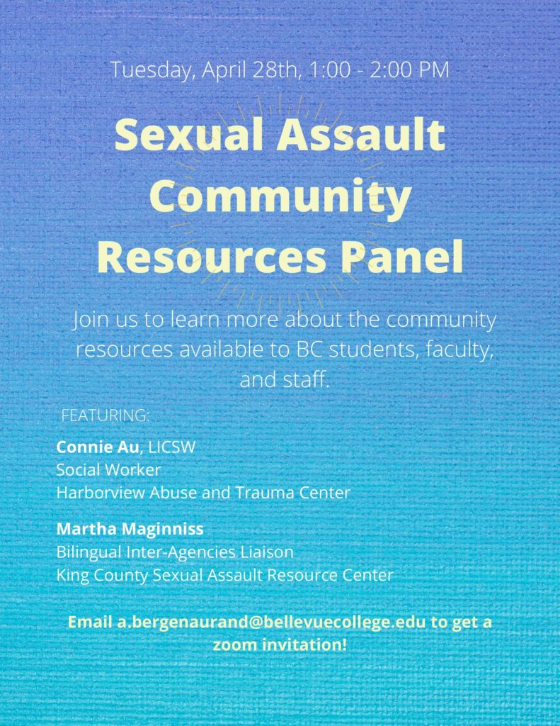 Sexual Assault Community Resources Panel