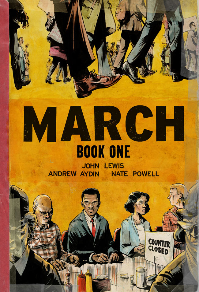 Book Cover- March Book One by John Lewis