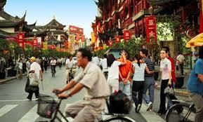 City scene in China