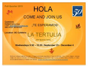 La Tertulia, the Spanish Table Flyer