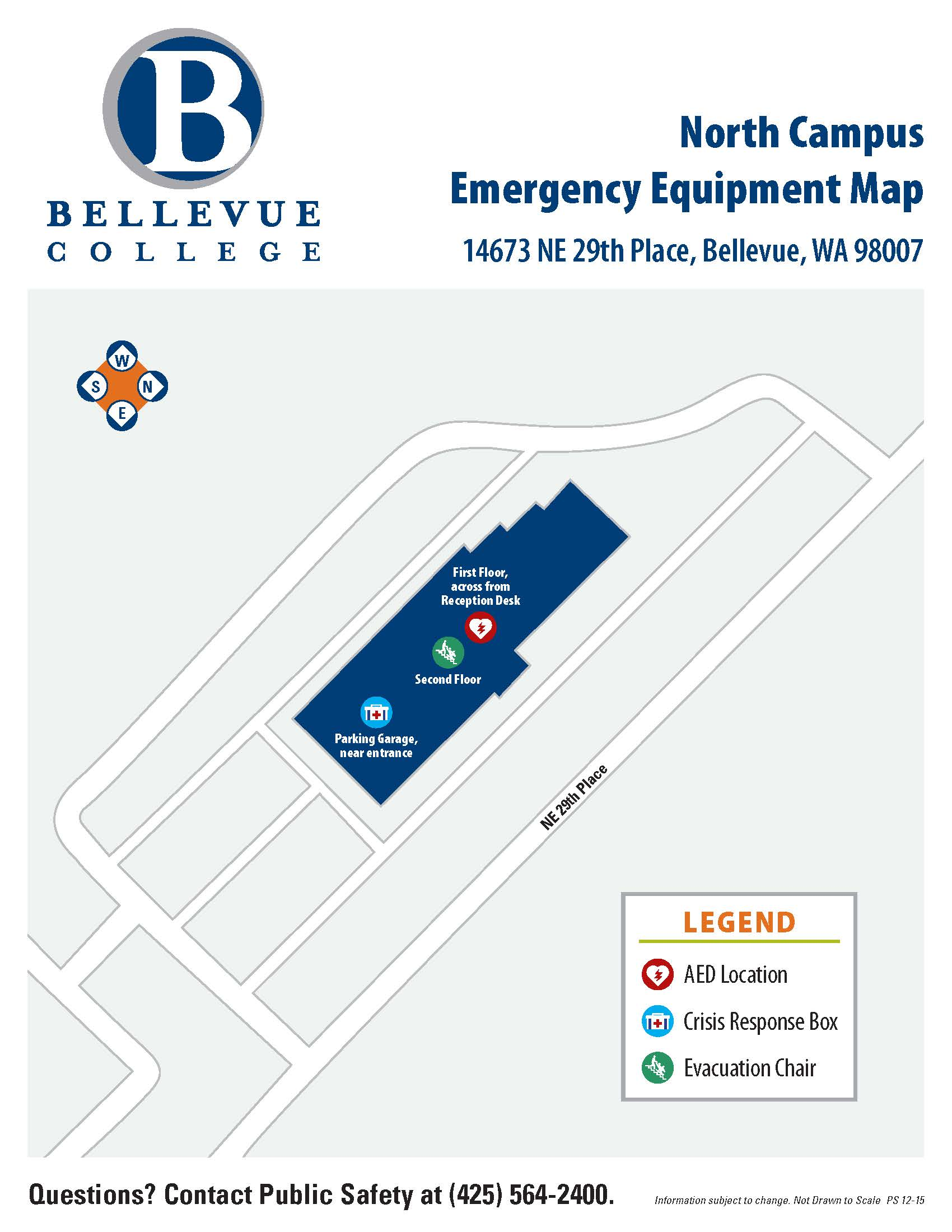 North Campus Emergency Equipment Map