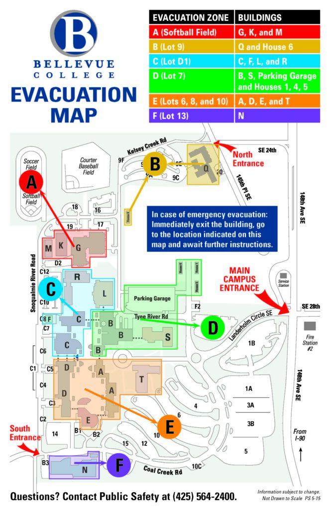 Evacuation Zones Main Campus