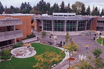 Arial view of Bellevue College C Building