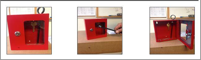 Lock down key red box