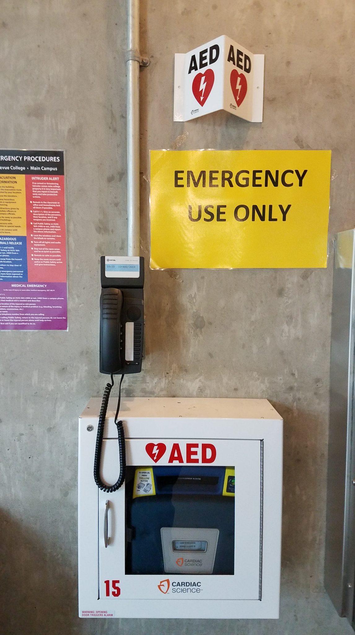R Building Emergency Call Phone Black