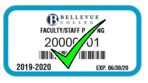Faculty Staff 2019-20 Parking Pass Blue