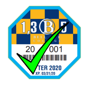 Image of the winter 2020 discount parking pass