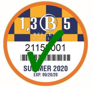 Summer 2020 Discount Parking Pass with Green Check Mark