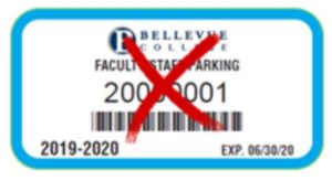 Employee old blue pass 2019 with a red x