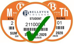 Summer 2020 Student Parking Passes with Green Check Mark