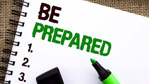 Text saying Be Prepared written with a sharpie