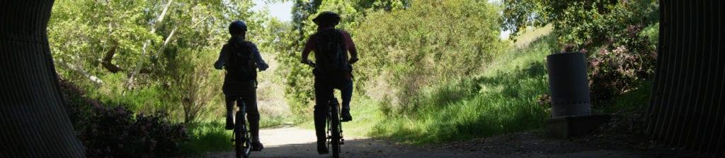 A pair biking