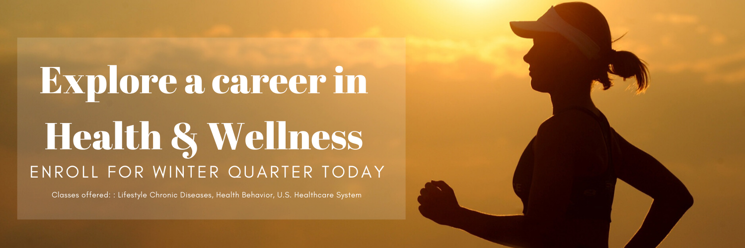 Explore a career in Health & Wellness: Silhouette of a person running.