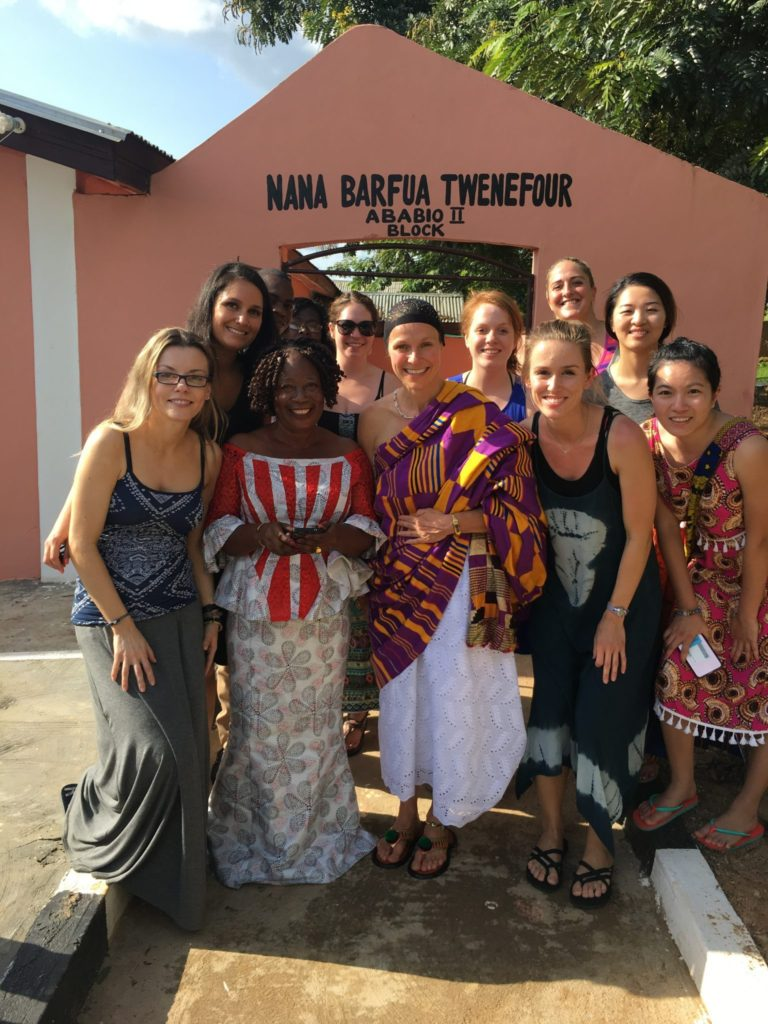 Bellevue College nurses pose with Village leaders