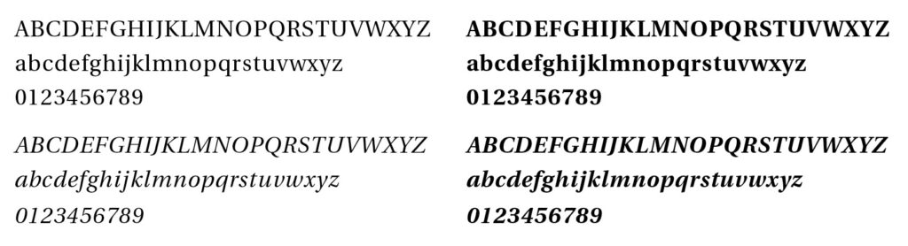Utopia Typeface Sample