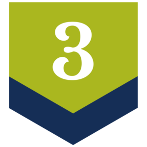 blue and green number 3 arrow