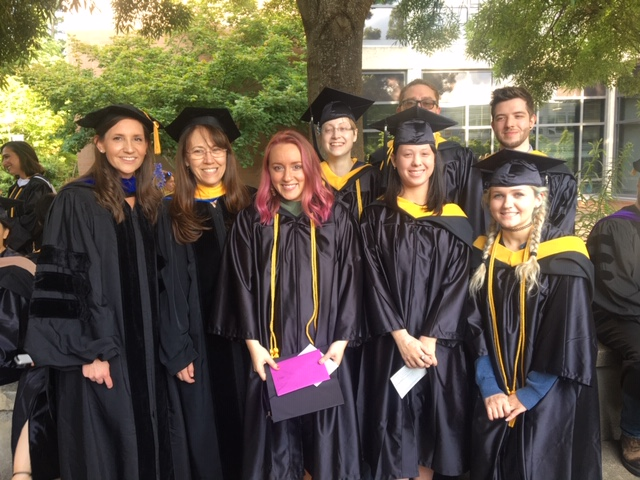 Photo of the MBS 2019 students in graduation regalia
