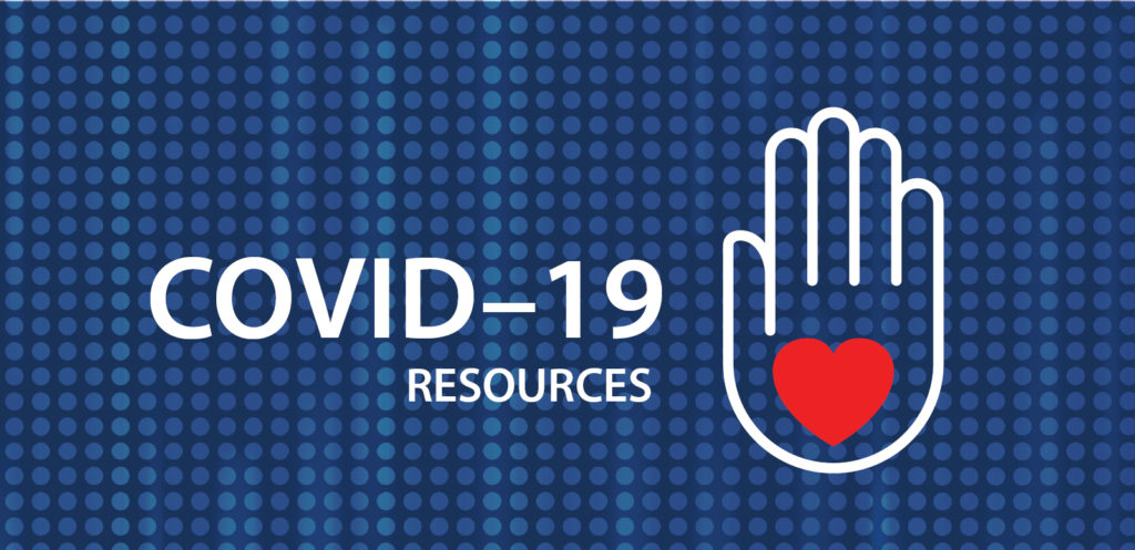 Covid-19 Resources Blue Background
