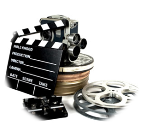 camera and movie reels