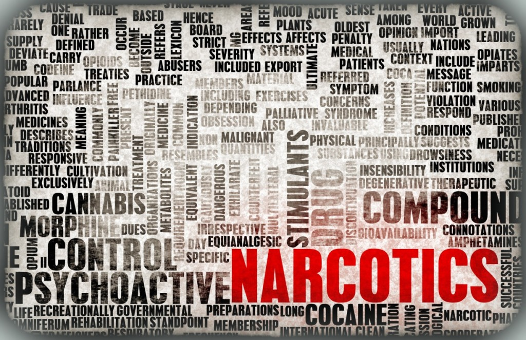 Narcotics Text Graphic