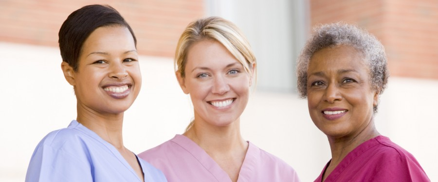 Picture of three female nurses.
