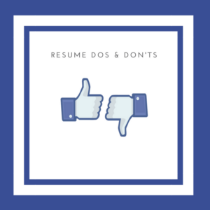 resumes dos and donts