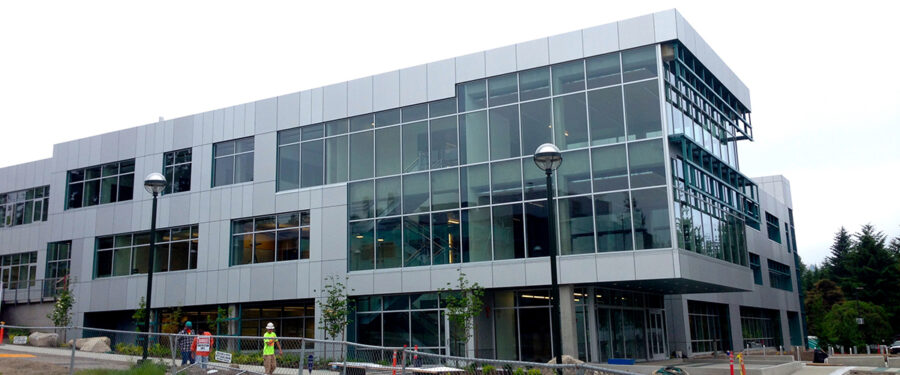 Picture of the new T Building