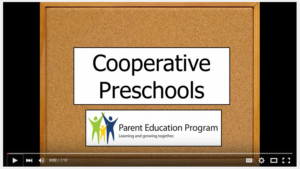 Video with information about cooperative preschools at Bellevue Colege