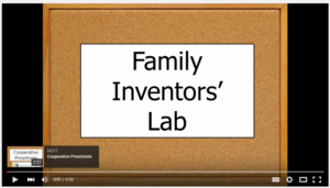 Video showing the Family Inventors' Lab class in action.