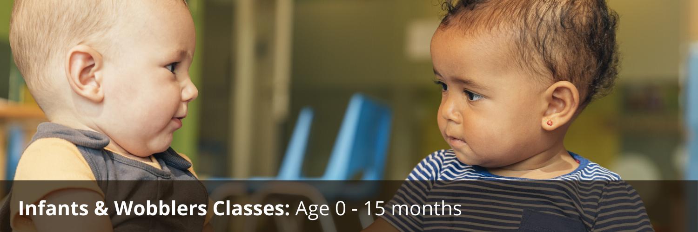 Infants & Wobblers Classes Age 0-15 months