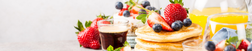 picture of pancakes and fruit