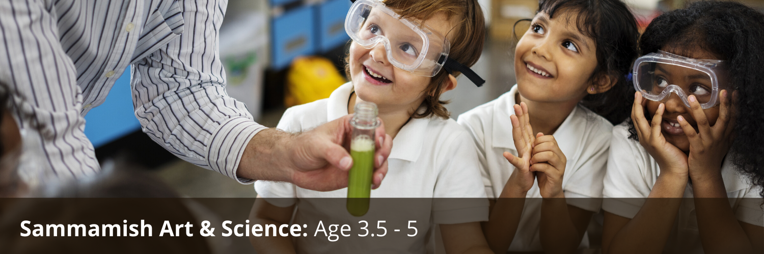 smiling children with science teacher