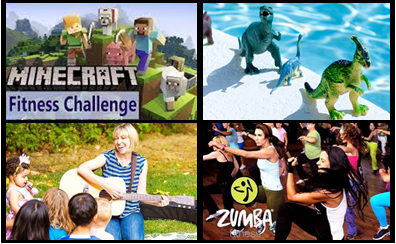 images for classes including Minecraft, dinosaurs, musician, Zumba