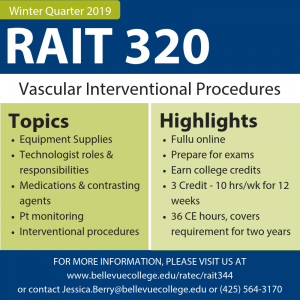 RAIT 320 Vascular Interventional Procedures Image - linked to accessible page.