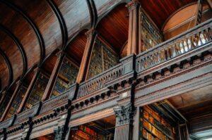 Interior of Trinity College Library stacks, Dublin, Ireland