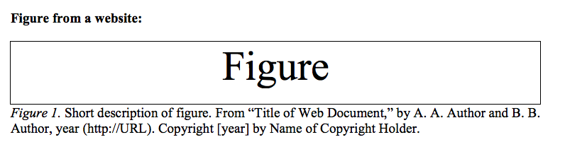 Sample APA format and citation for a figure from a website
