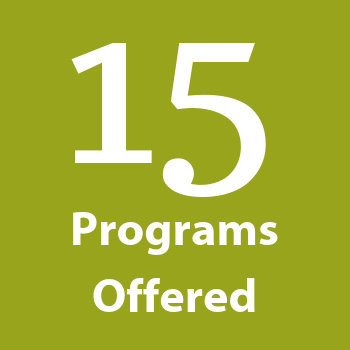 15 Programs Offered