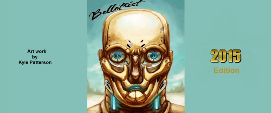"Literary magazine cover ""Belletrist"" 2015 edition"