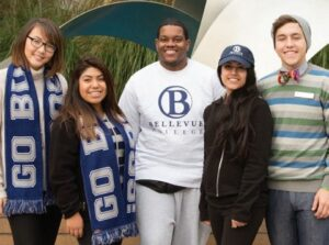 A group of five Bellevue College students