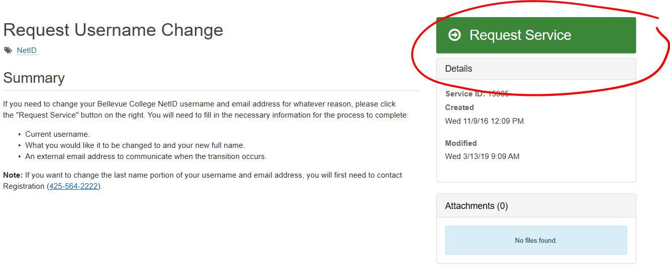 Username Request Website