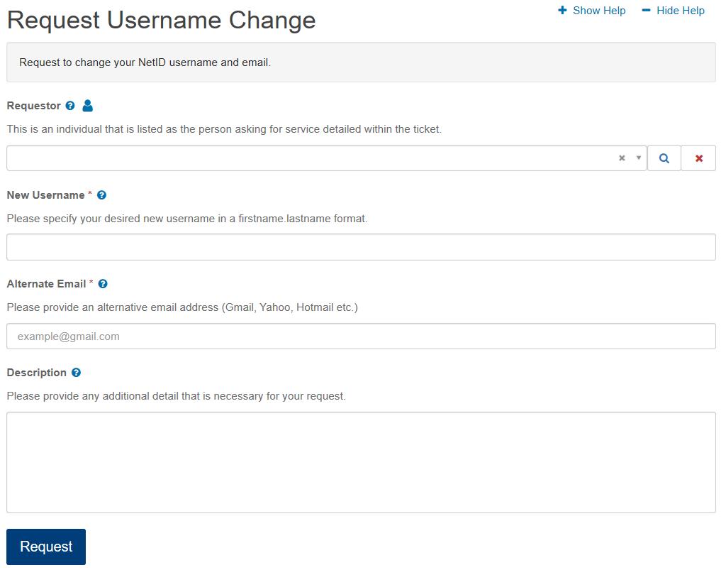 Online I.T. Request Form Image
