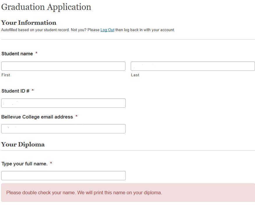 Graduation Application Form Image