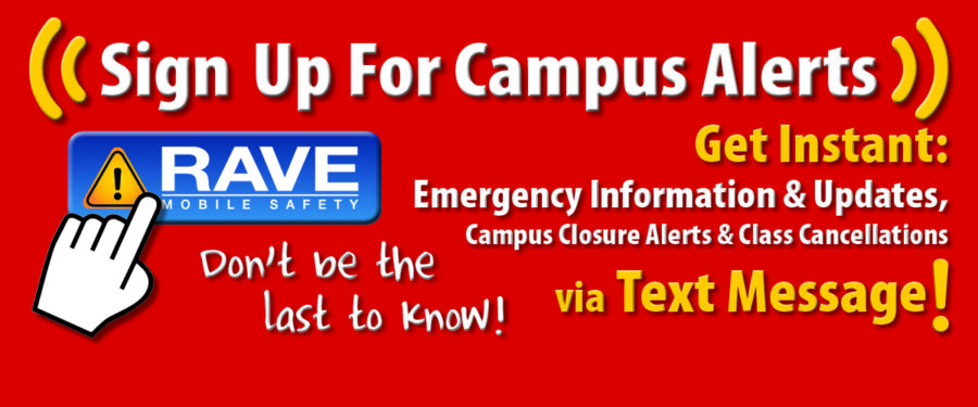 Image of graphic for Rave Alert sign-up