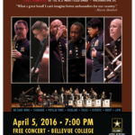 Poster announcing US Army Jazz band concert at BC