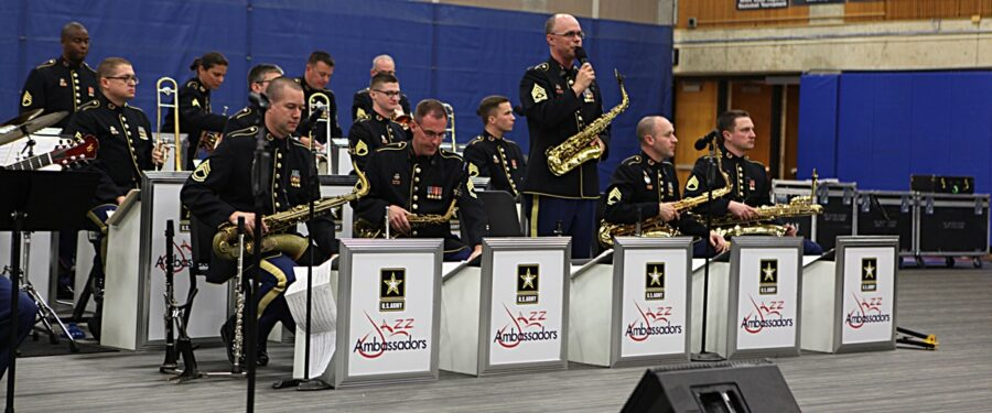 Former BC student Andrew Layton with the U.S. Army Jazz Ambassadors