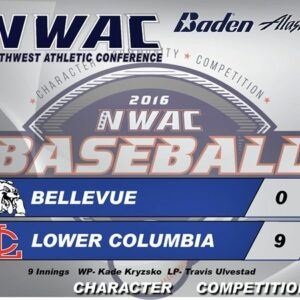 Lower Columbia 9, Bellevue College 0 in the first round of the NWAC Baseball Championships