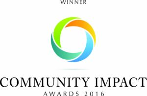 Logo for the 2016 Community Impact Award