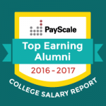 Payscale.com badge for top earning alumni.